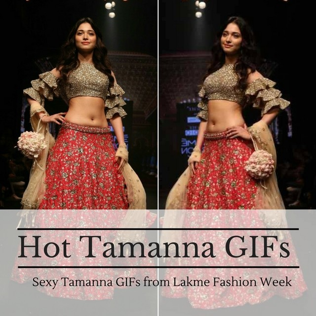 Sexy Tamanna Bhatia at Lakme Fashion week GIFs - Sexy Actress Pictures | Hot Actress Pictures - ActressSnaps.com