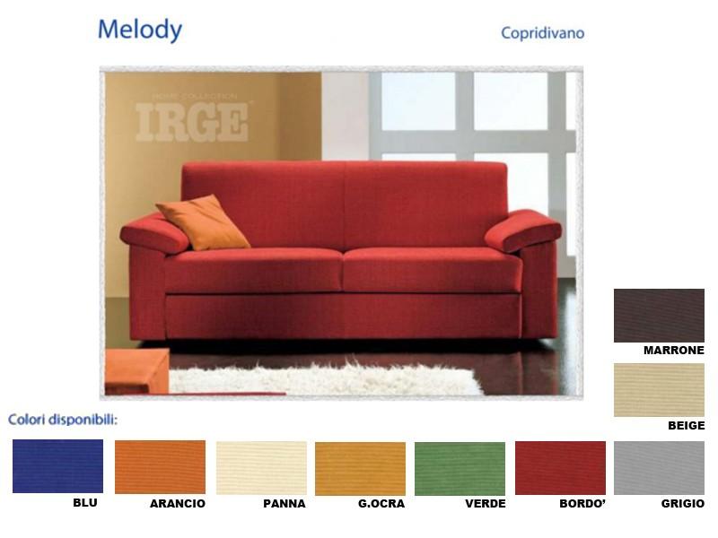 Copridivano irge melody elasticizzato copertura divano varie misure e colori ebay - Misure copridivano ...