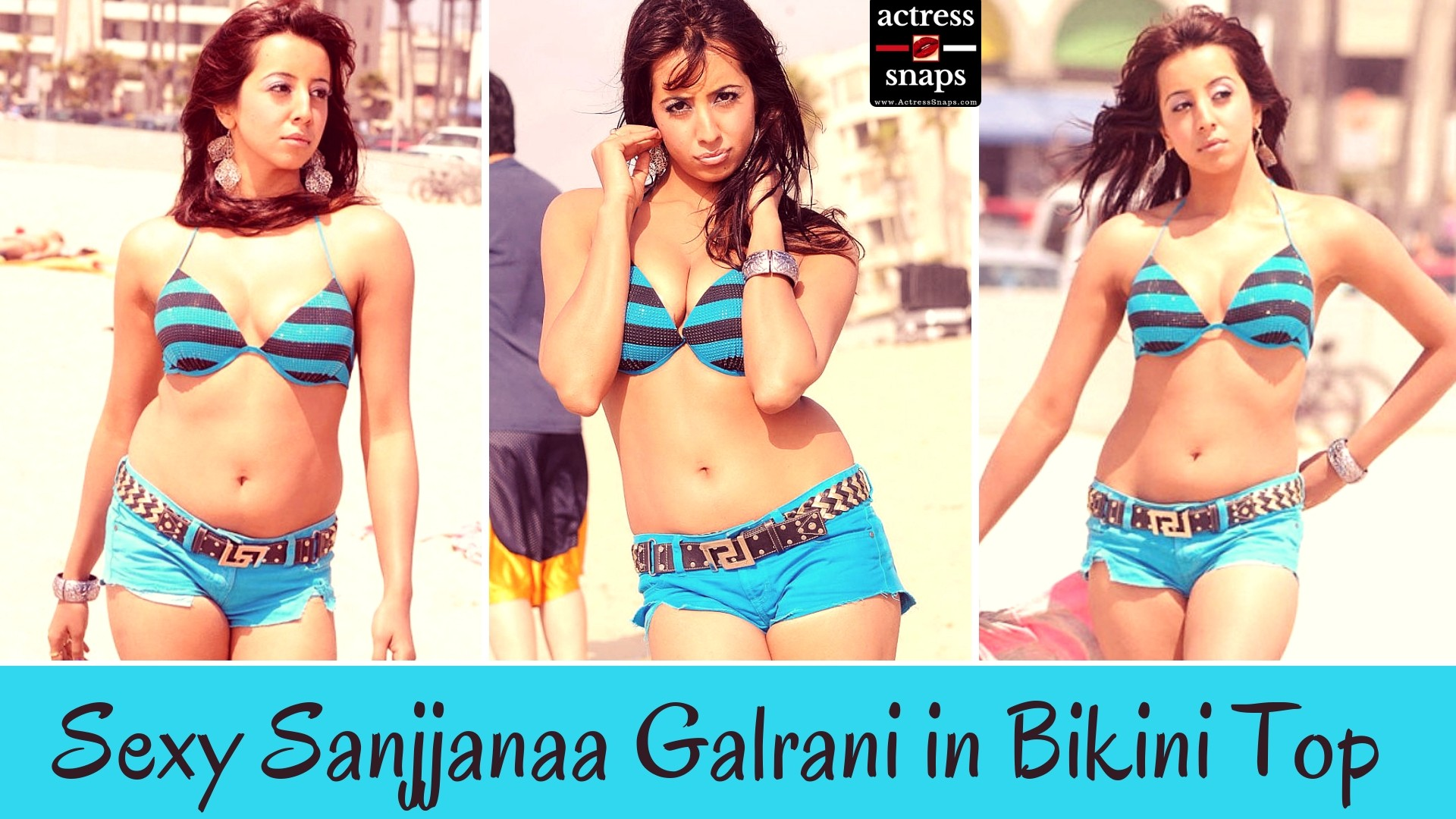Sexy Sanjjanaa Galrani in Bikini Top - Sexy Actress Pictures | Hot Actress Pictures - ActressSnaps.com