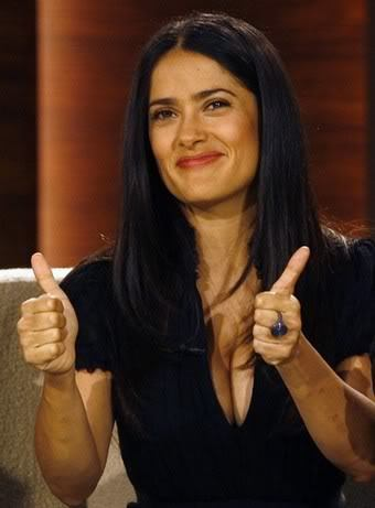 Salma Hayek in German TV Show