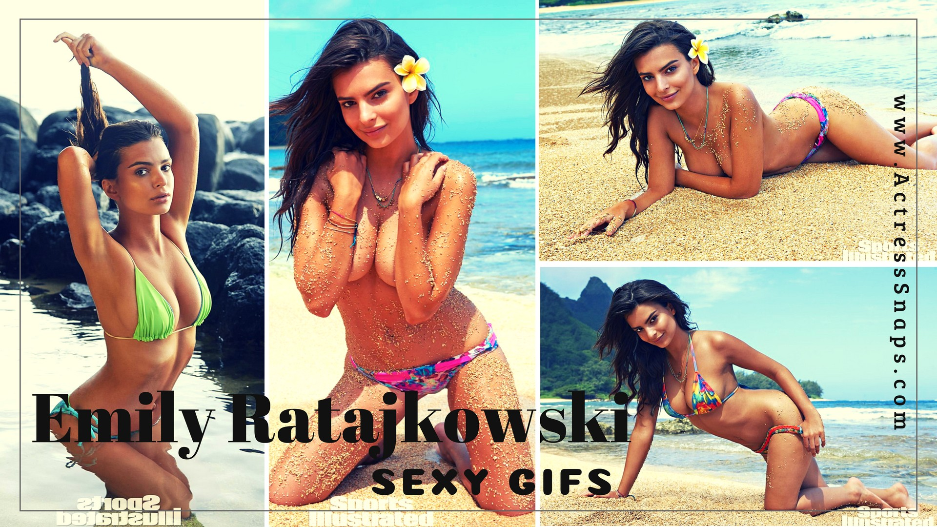 Sexy Emily Ratajkowski GIFs from Sports Illustrated Shoot - Sexy Actress Pictures | Hot Actress Pictures