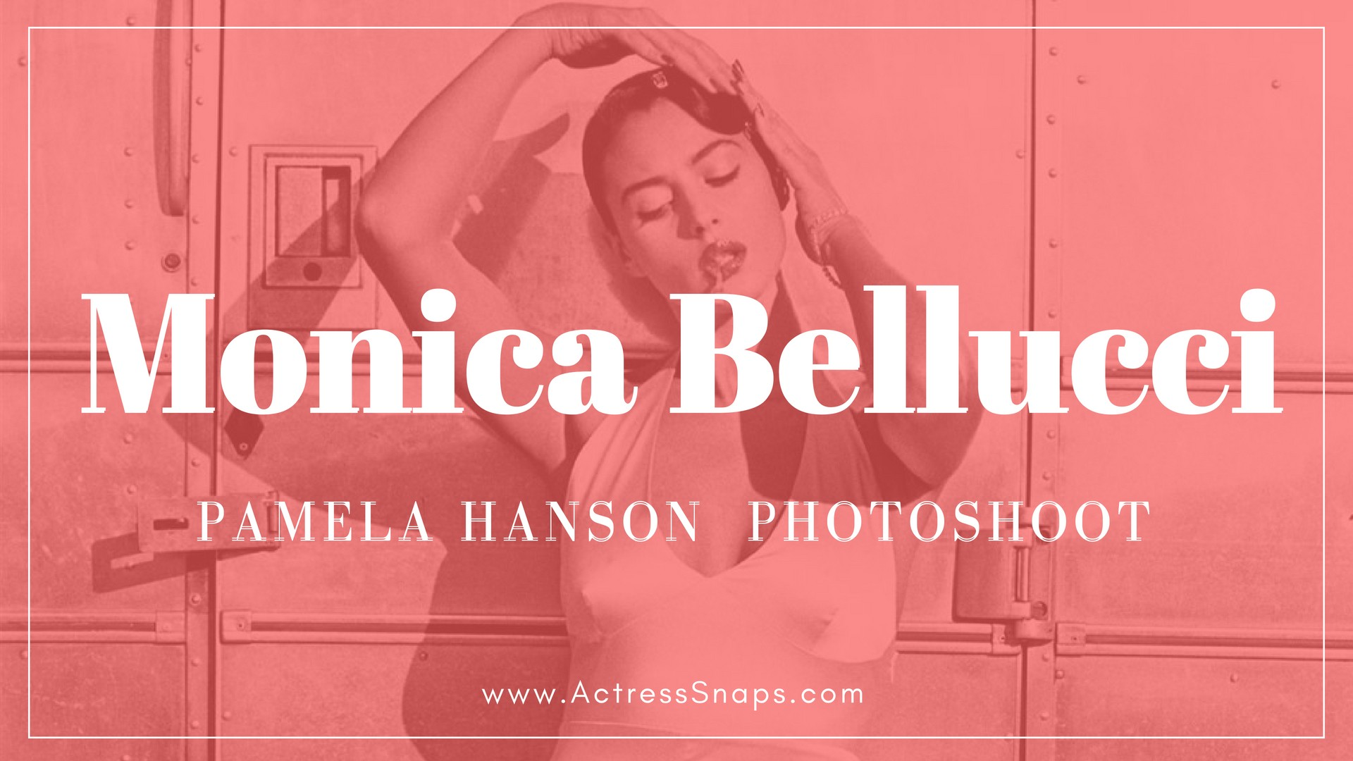 Monica Bellucci - Hot Pamela Hanson PhotoShoot - Sexy Actress Pictures | Hot Actress Pictures - ActressSnaps.com