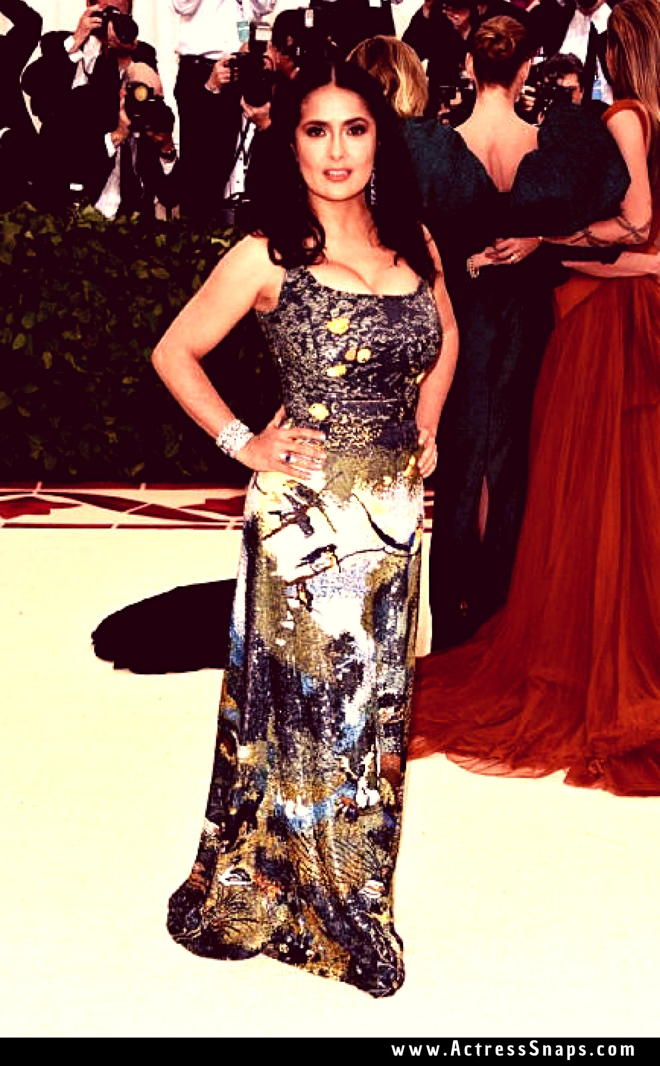 Beautiful Salma Hayek at 2018 MET Gala Pictures - Sexy Actress Pictures | Hot Actress Pictures - ActressSnaps.com