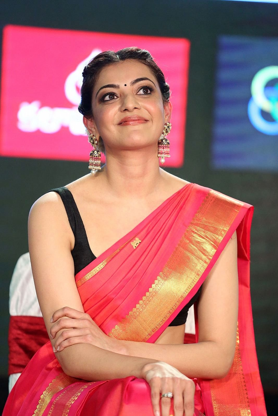Sexy Kajal Agarwal Pictures in Deep Cut Blouse - Sexy Actress Pictures | Hot Actress Pictures