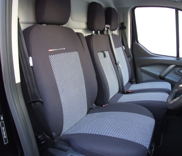 FORD TRANSIT Mk8 2015 2016 2017 2018 2019 2020 TAILORED FABRIC FRONT SEAT COVER