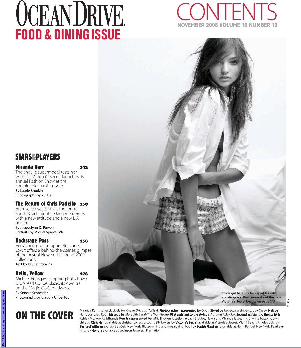 Miranda Kerr - Ocean Drive Magazine - Sexy Actress Pictures | Hot Actress Pictures - ActressSnaps.com