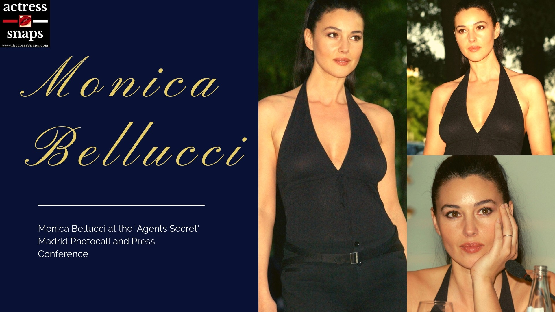 Monica Bellucci at the Agents Secret Photocall - Sexy Actress Pictures | Hot Actress Pictures - ActressSnaps.com