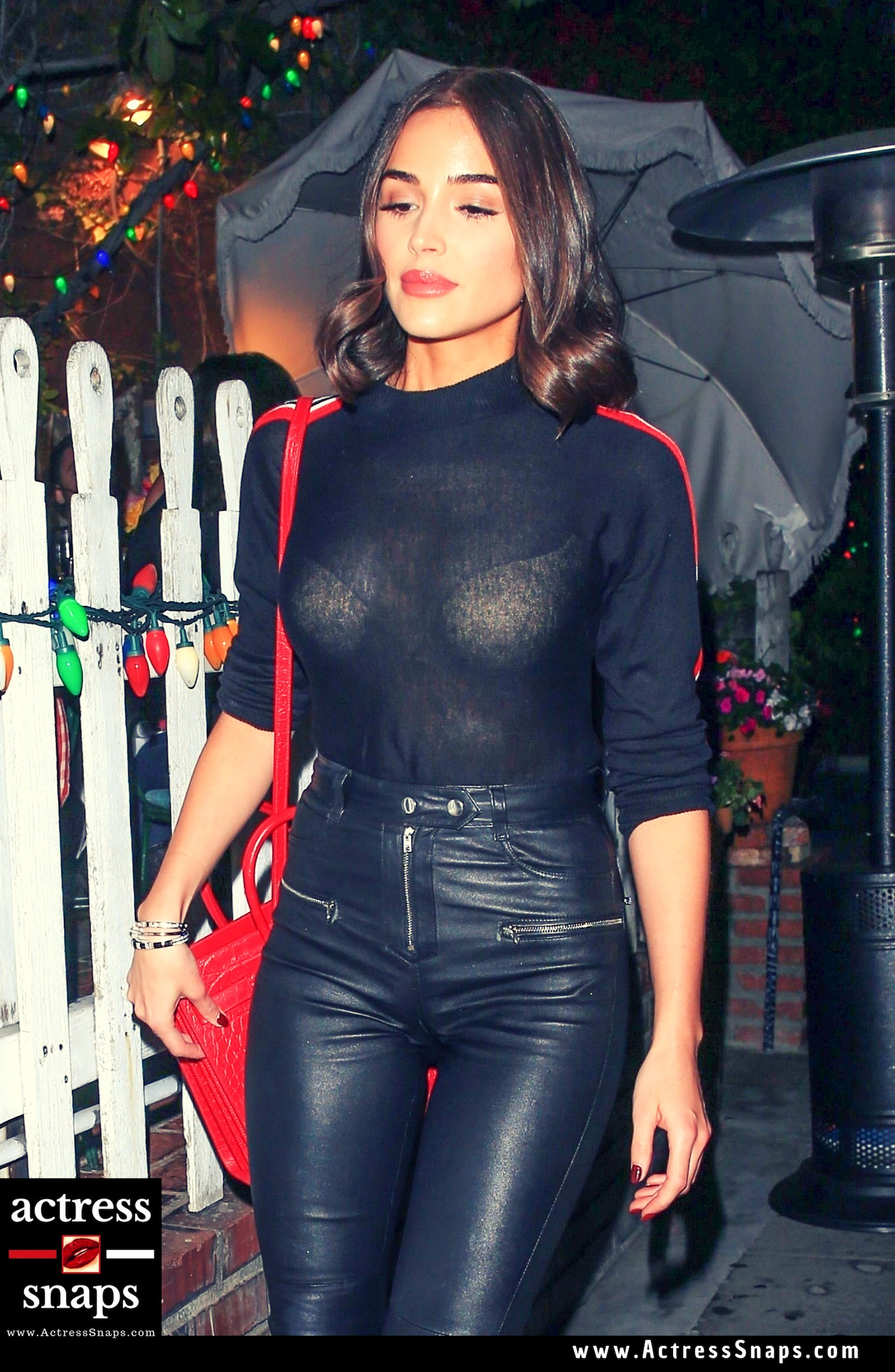 Olivia Culpo Looking hot in Black and Red - Sexy Actress Pictures | Hot Actress Pictures - ActressSnaps.com