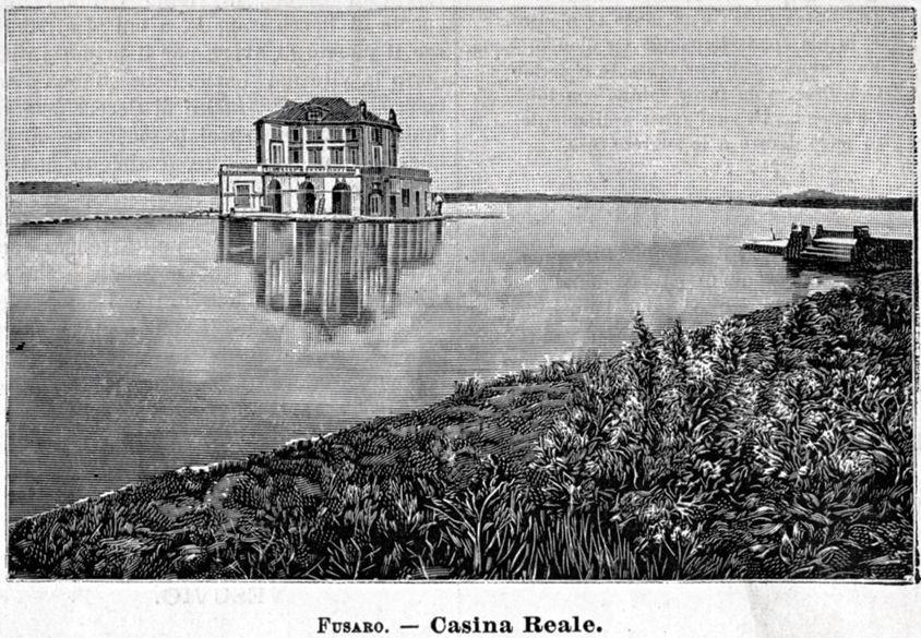 Venosa: Piazza Castello Passepartout Stampa Antica Potenza 1901 Basilicata