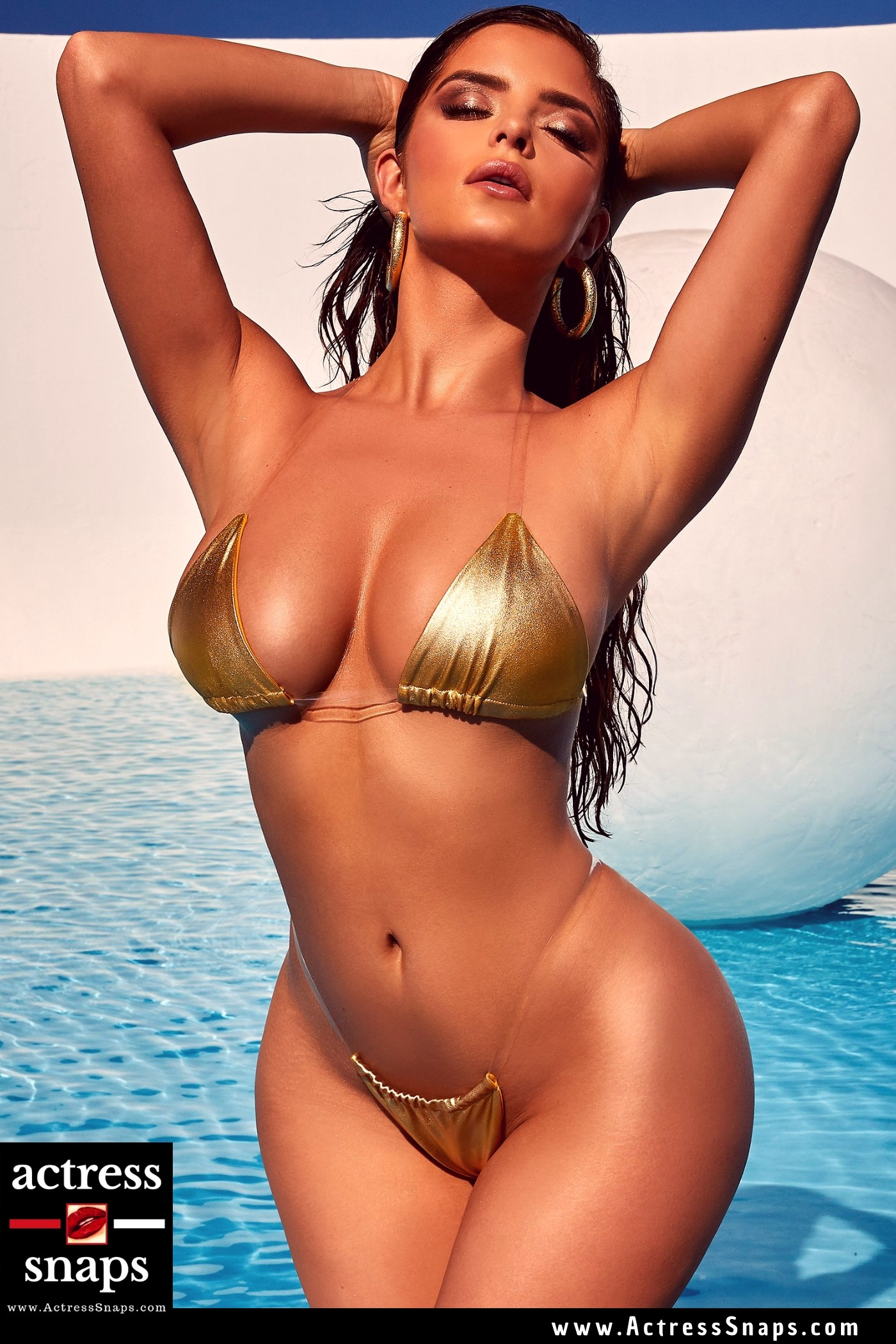 Sexy Demi Rose in Oh Polly Beachwear - Sexy Actress Pictures | Hot Actress Pictures - ActressSnaps.com