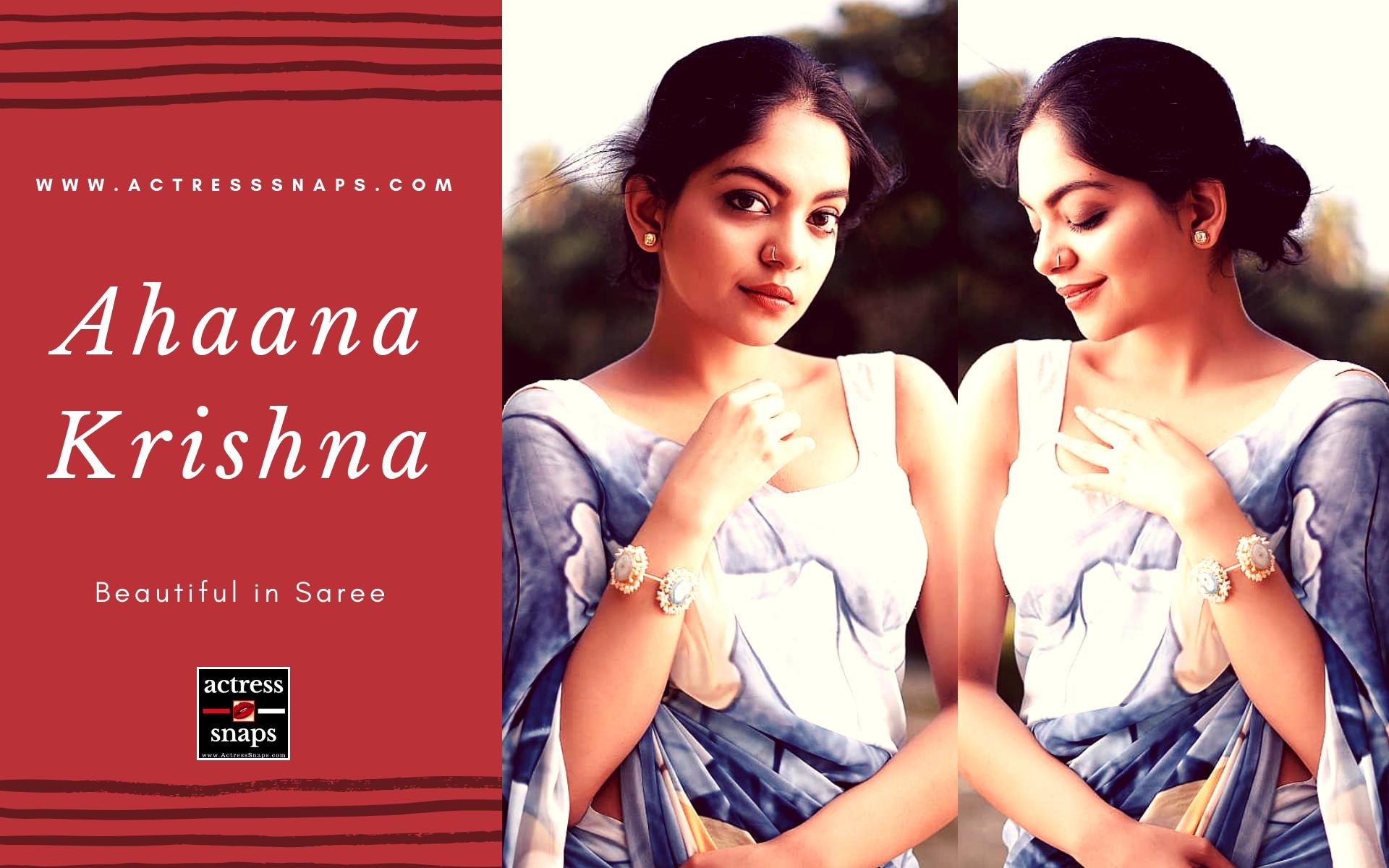Ahaana Krishna - Beautiful in Saree - Sexy Actress Pictures | Hot Actress Pictures - ActressSnaps.com