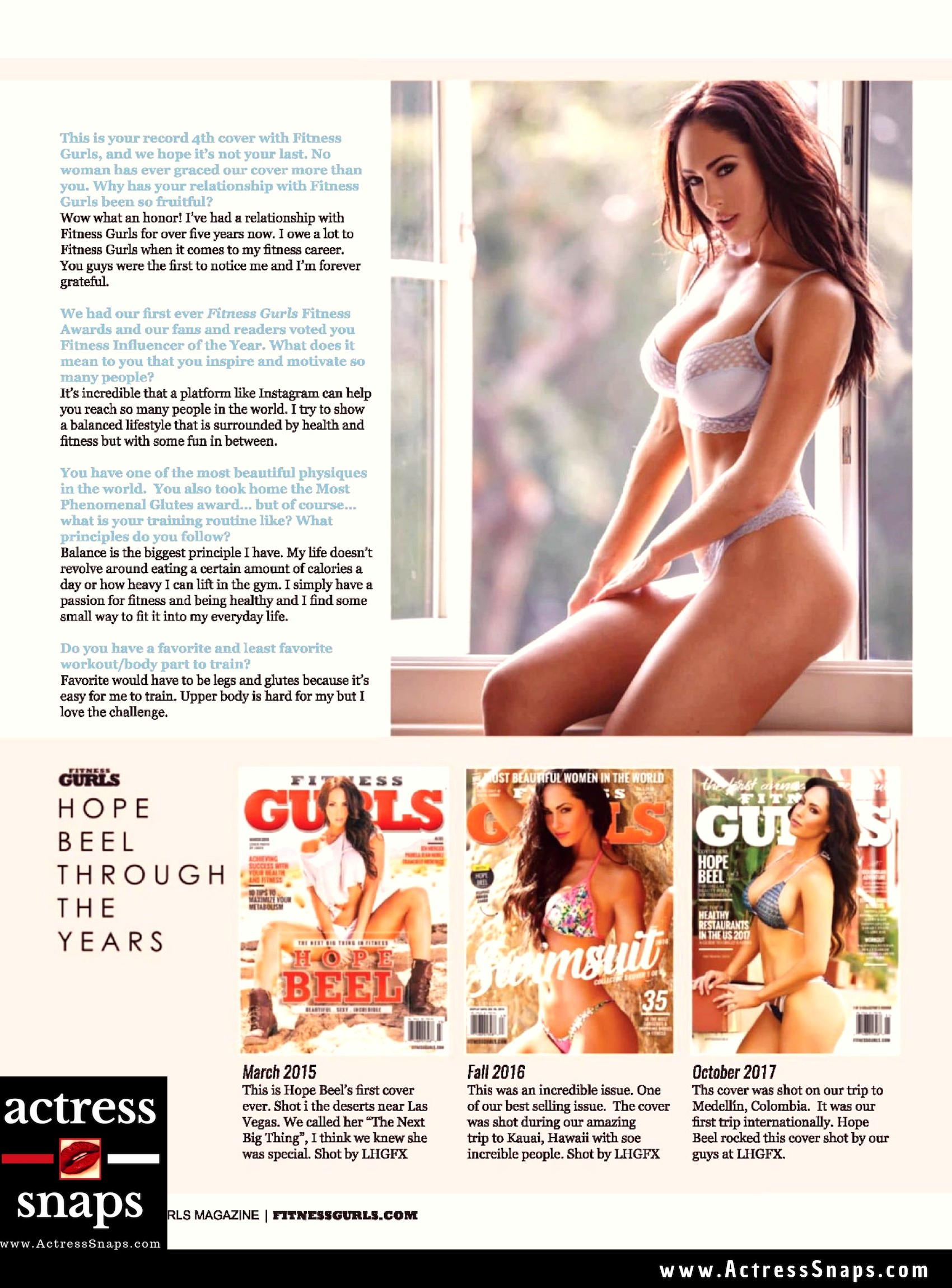 Hope Beel - Fitness Gurls Magazine - Sexy Actress Pictures | Hot Actress Pictures - ActressSnaps.com