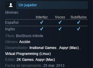 DORTHY: Bioshock infinite traduccion exclusiva