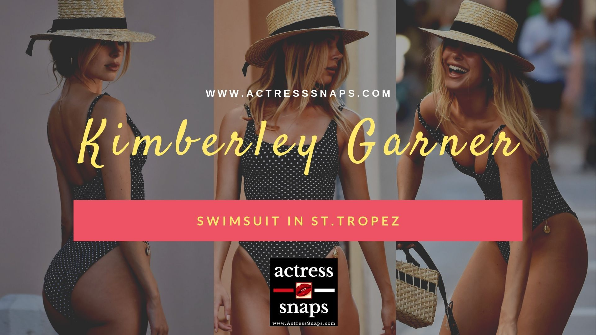 Kimberley Garner - Sexy in Black Swimsuit - Sexy Actress Pictures | Hot Actress Pictures - ActressSnaps.com