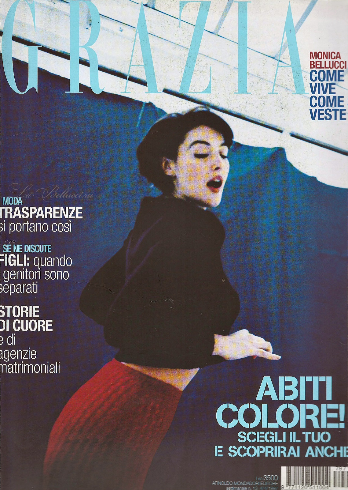 Monica Bellucci - 1997 Grazia Italy Scans - Sexy Actress Pictures | Hot Actress Pictures - ActressSnaps.com